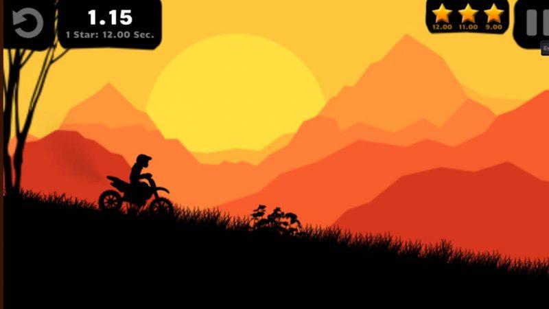 Sunset bike racer onlinespel